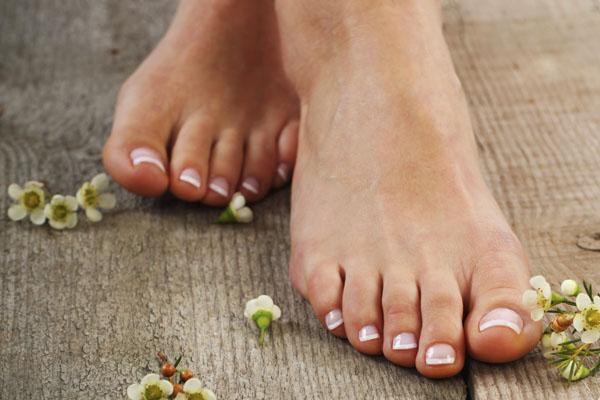 A woman's bare feet